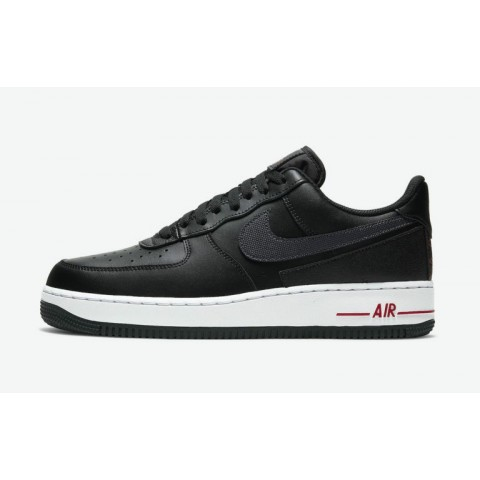 """Nike Air Force 1 """"Technical Stitch"""" Noir/Rouge-Blanche DD7113-001"""