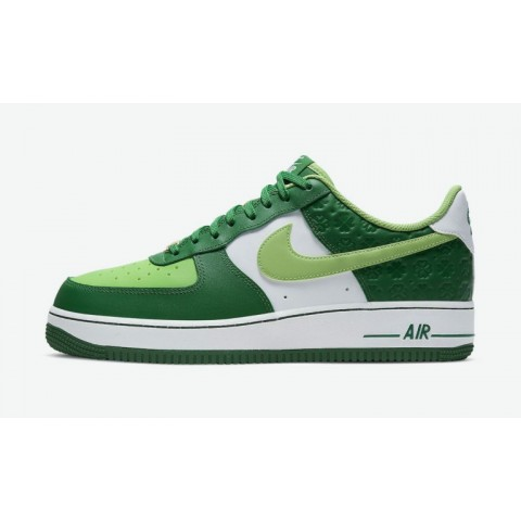 """Nike Air Force 1 """"St. Patrick's Day"""" Vert/Blanche DD8458-300"""