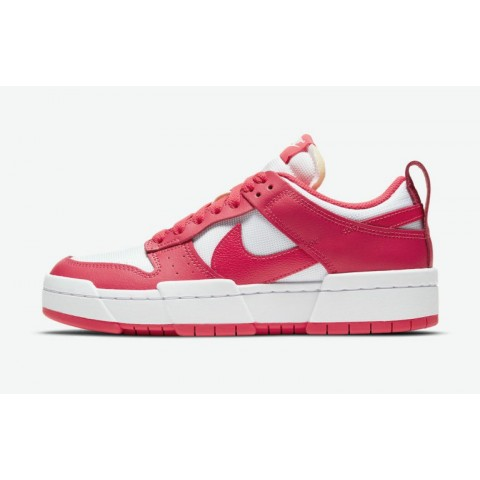 """Nike Dunk Low Disrupt """"Rouge"""" Rouge/Rouge-Blanche CK6654-601"""